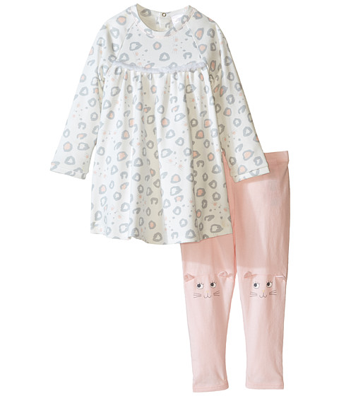 Little Marc Jacobs All Over Printed Dress with Cute Leggings Set (Infant)