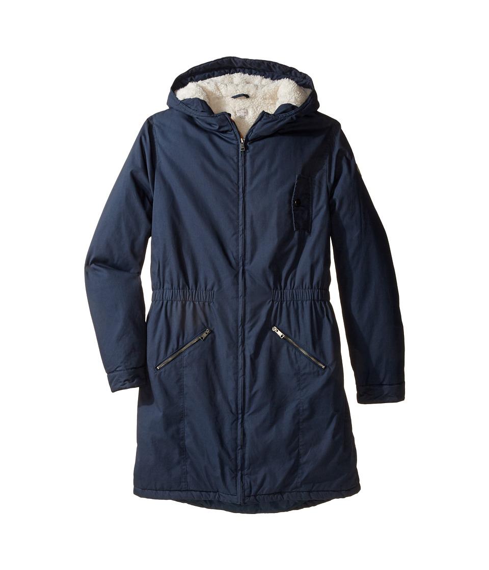 Paul Smith Junior Hooded Winter Jacket (Big Kids) (Petrol Blue) Boy