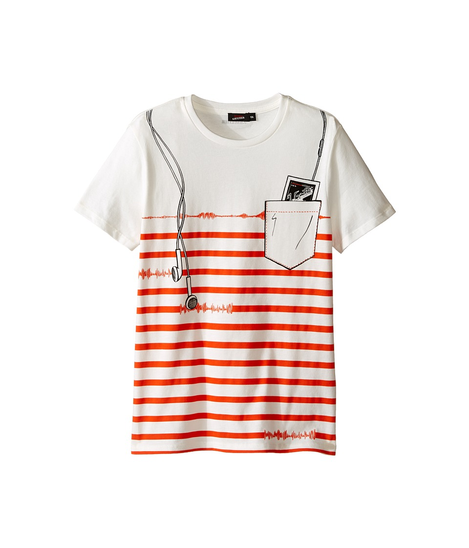 Junior Gaultier - Strpied Short Sleeve Tee Shirt with ipod Print