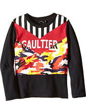 Junior Gaultier - Gaultier Tee Shirt with Orange/Yellow Camouflage (Toddler/Little Kids)