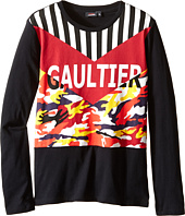 Junior Gaultier - Gaultier Tee Shirt with Orange/Yellow Camouflage (Big Kids)