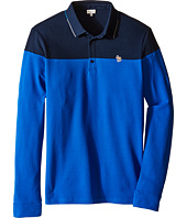 Paul Smith Junior - Bi-Color Long Sleeves Polo (Big Kids)