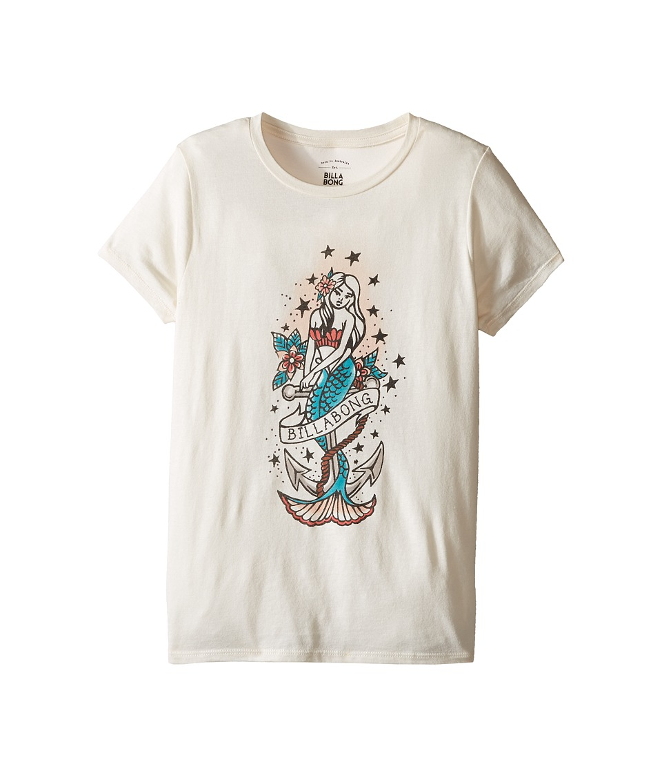Billabong Kids - Mermaid Tattoo Tee (Little Kids/Big Kids) (White Cap) Girl