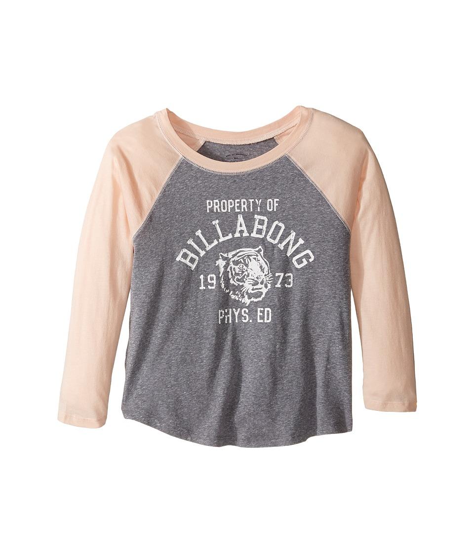 Billabong Kids Property of Raglan (Little Kids/Big Kids) (Dark Athletic Grey) Girl