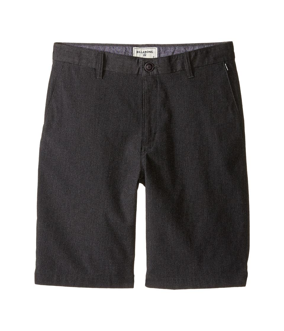 Billabong Kids - Carter Stretch Walkshorts (Big Kids) (Black Heather) Boys Shorts