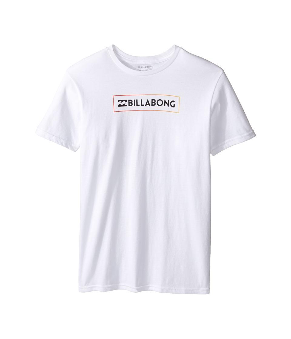 Billabong Kids Unity Block T-Shirt (Big Kids) (White) Boy
