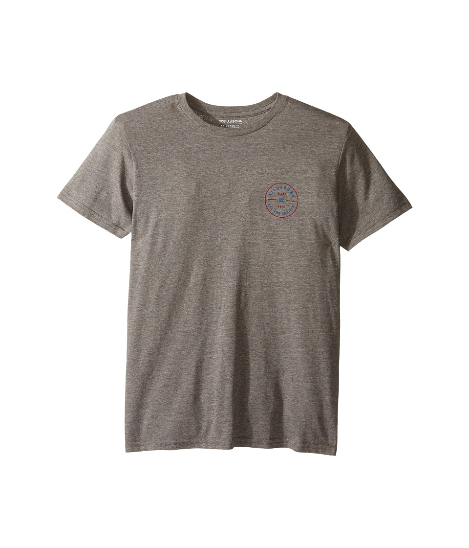 Billabong Kids Rotor T-Shirt (Big Kids) (Dark Grey Heather) Boy