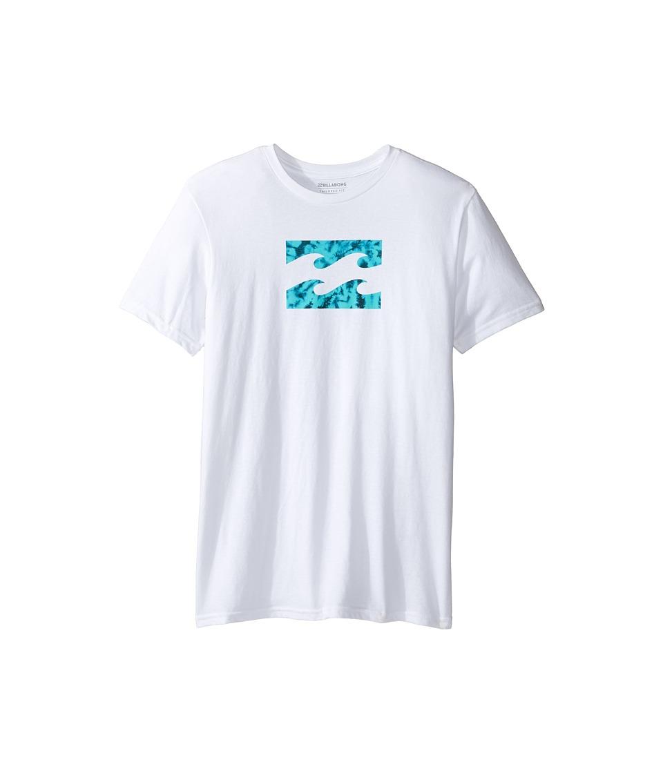Billabong Kids Team Wave T-Shirt (Big Kids) (White) Boy
