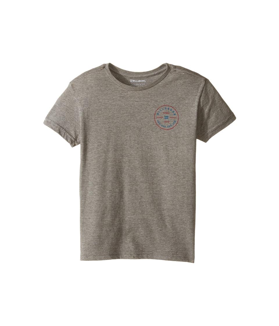 Billabong Kids Rotor T-Shirt (Toddler/Little Kids) (Dark Grey Heather) Boy