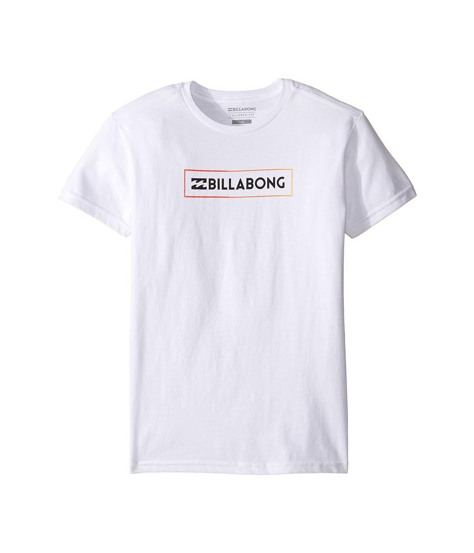 Billabong Kids - Unity Block T-Shirt (Toddler/Little Kids) (White) Boy