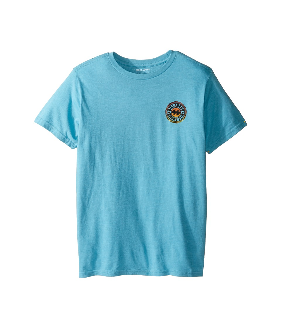 Billabong Kids Flip Wave T-shirts (Big Kids) (Aqua Heather) Boy