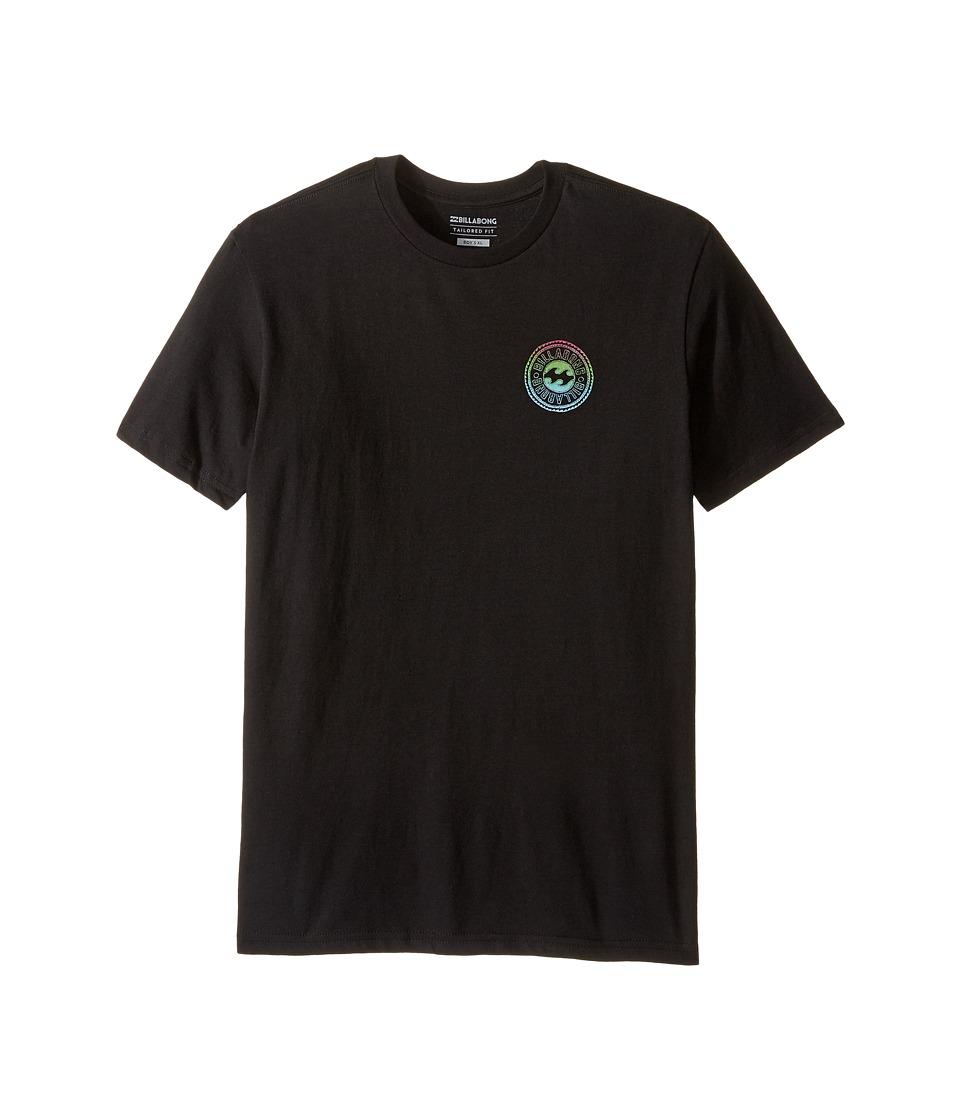 Billabong Kids Flip Wave T-shirts (Big Kids) (Black) Boy