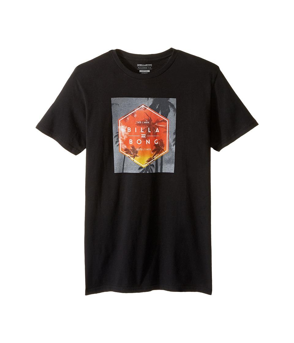 Billabong Kids Upward T-Shirts (Big Kids) (Black) Boy