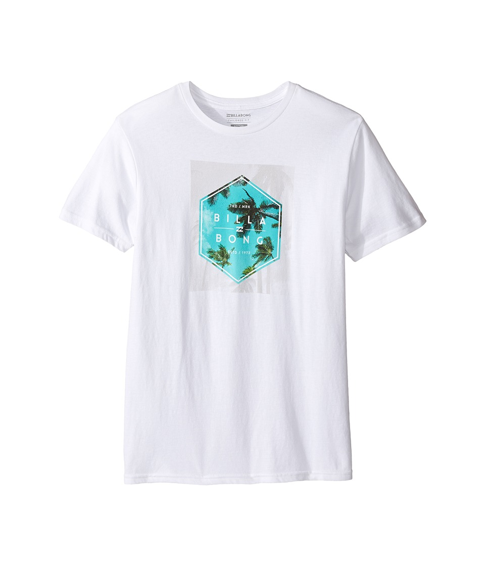 Billabong Kids Upward T-Shirts (Big Kids) (White) Boy