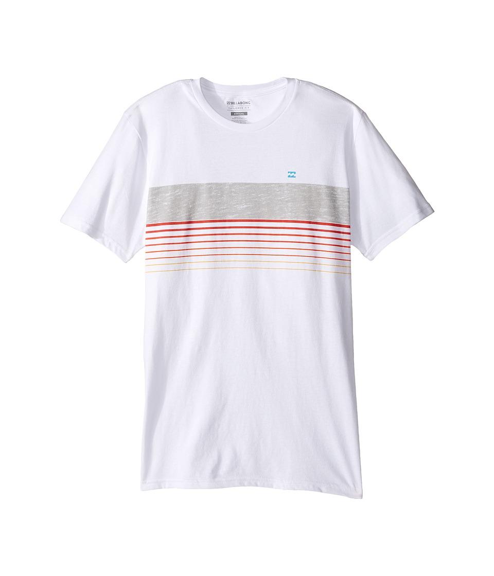 Billabong Kids All Day Spinner T-Shirt (Big Kids) (White) Boy