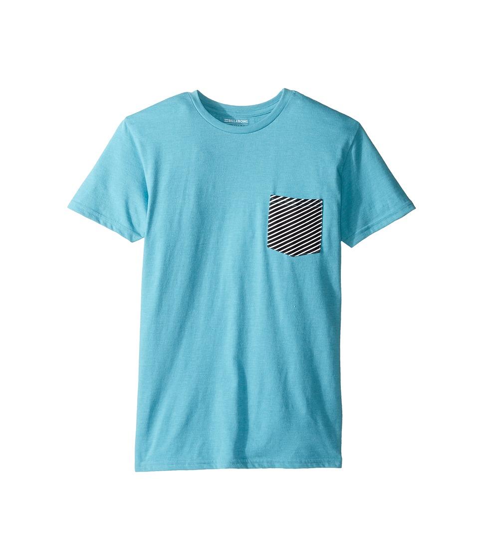 Billabong Kids Team Pocket T-Shirt (Big Kids) (Aqua Heather) Boy
