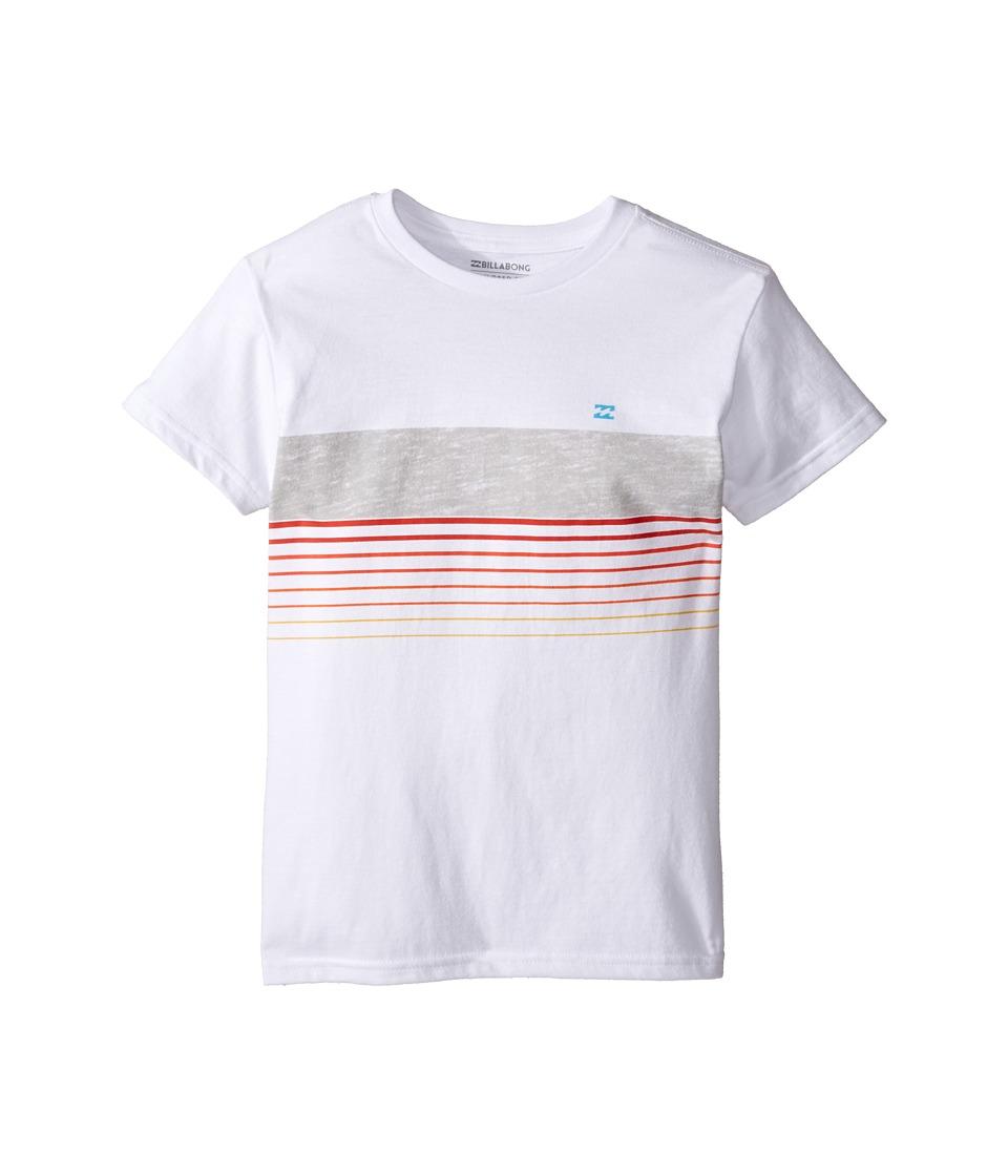 Billabong Kids All Day Spinner T-Shirt (Toddler/Little Kids) (White) Boy