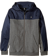 Volcom Kids - Double Down Zip Hoodie (Big Kids)