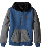 Volcom Kids - Single Stone Color Block Lined Zip Hoodie (Big Kids)