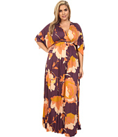 Rachel Pally Plus - Plus Size Long Caftan Dress White Label Print