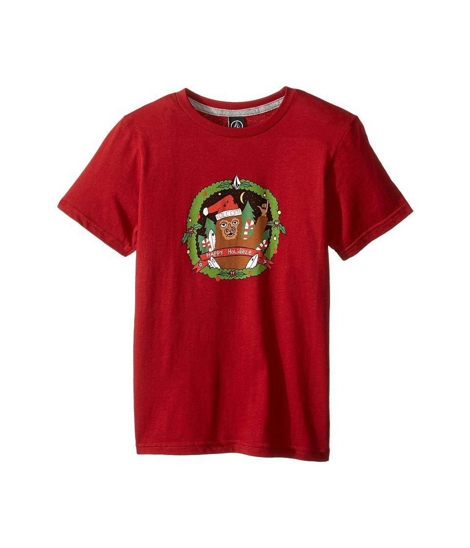 Volcom Kids Big Guy Short Sleeve Tee (Toddler/Little Kids) (Deep Red) Boy