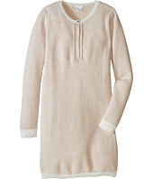 Chloe Kids - Lurex and Knitted Dress w/ Braids Details (Big Kids)