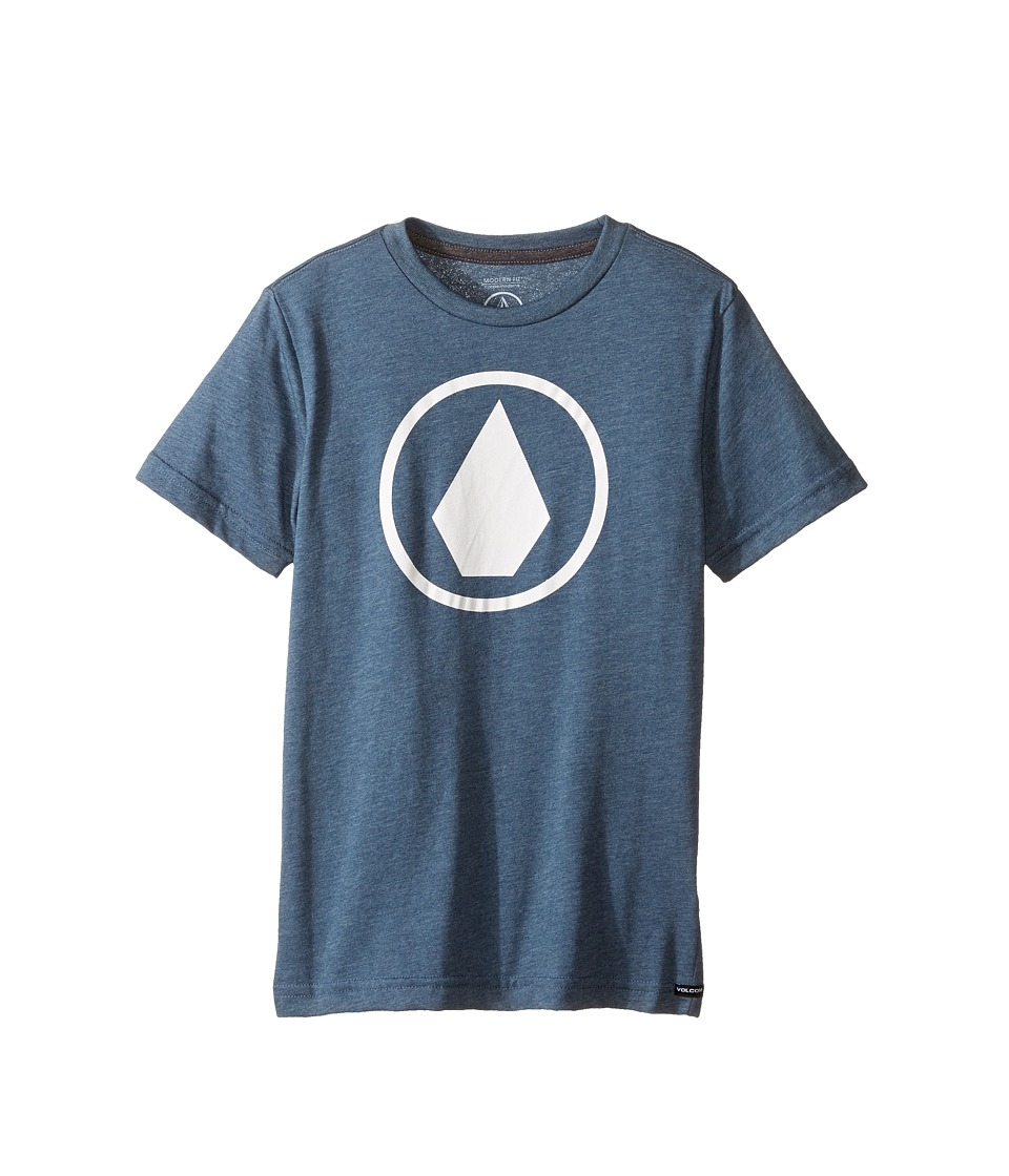 Volcom Kids Solid Stone Short Sleeve Tee (Toddler/Little Kids) (Air Force Blue) Boy