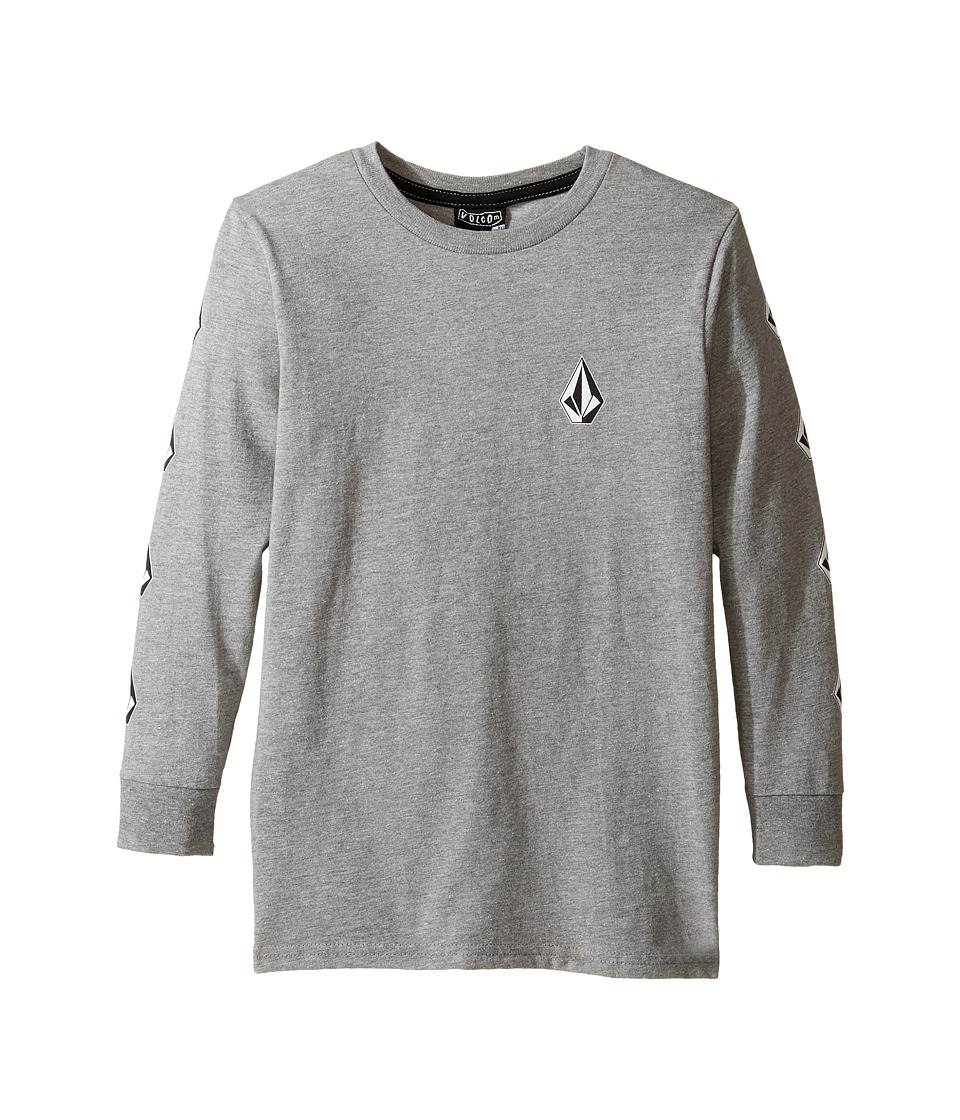 Volcom Kids Deadly Stones Long Sleeve Tee (Toddler/Little Kids) (Heather Grey) Boy