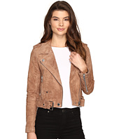 Blank NYC - Camel Suede Moto Jacket in Coffee Bean