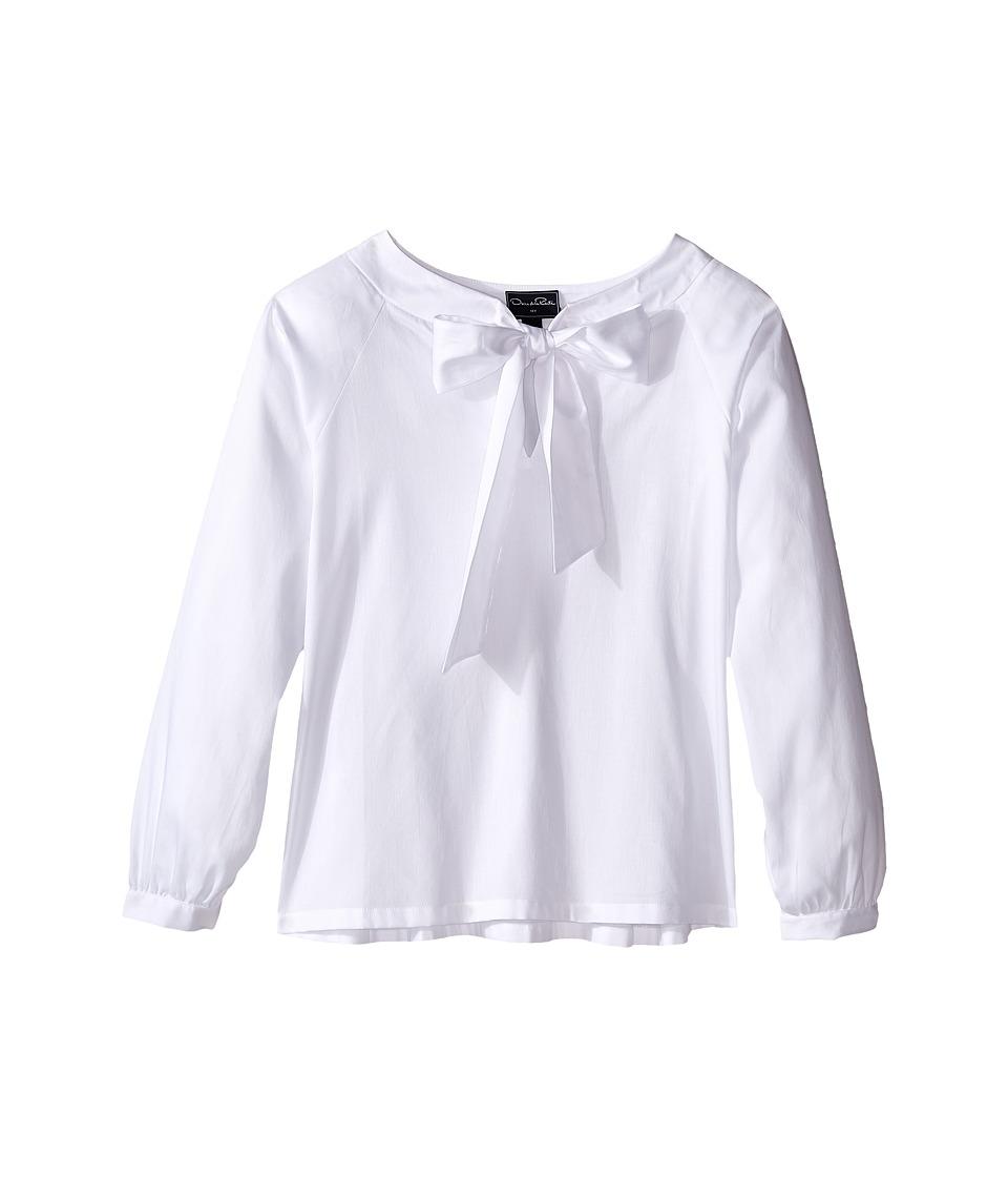 Oscar de la Renta Childrenswear - Cotton Bow Blouse