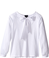 Oscar de la Renta Childrenswear - Cotton Bow Blouse (Toddler/Little Kids/Big Kids)