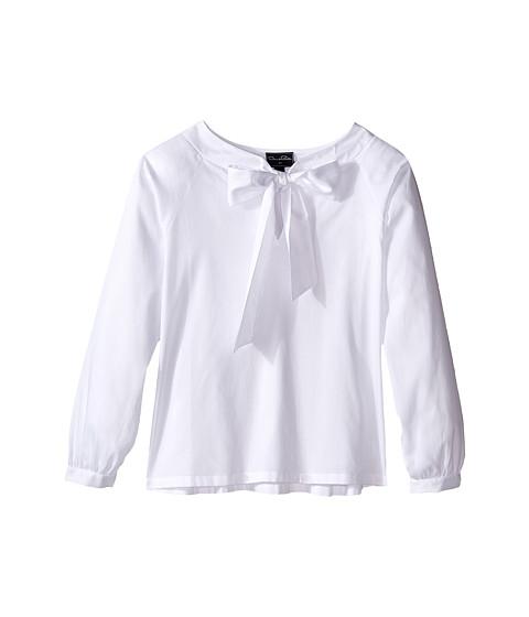 Oscar de la Renta Childrenswear Cotton Bow Blouse (Toddler/Little Kids/Big Kids)