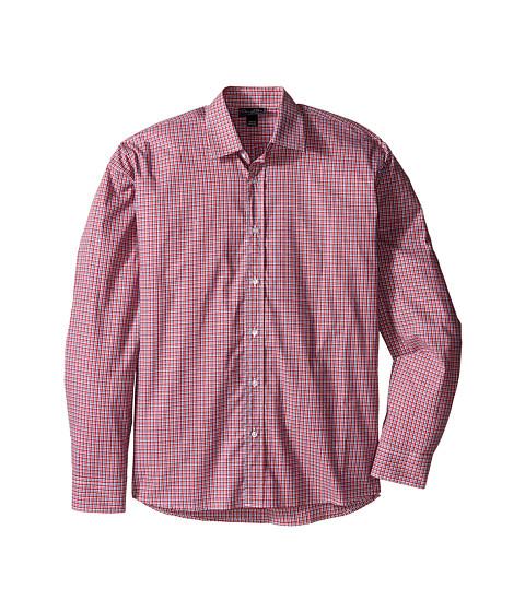 Oscar de la Renta Childrenswear Check Cotton Long Sleeve Dress Shirt (Toddler/Little Kids/Big Kids)