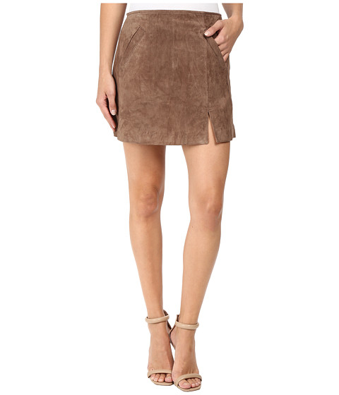 Blank NYC Camel Suede Mini Skirt in Midnight Toker - Camel/Beige