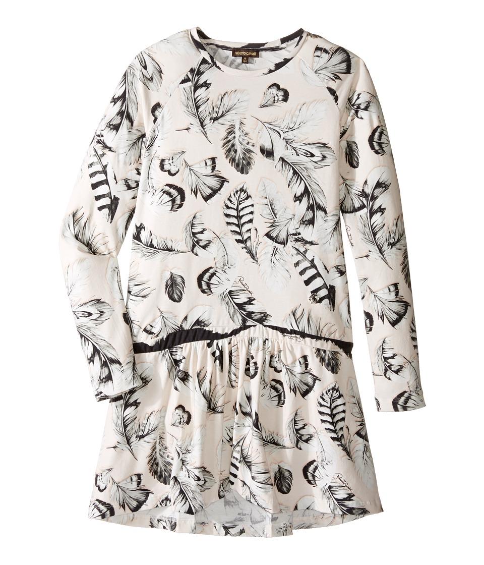 Roberto Cavalli Kids - Long Sleeve All Over Print Drop Waist Dress