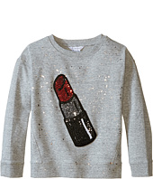 Little Marc Jacobs - Glittered Lipstick Patch Sweatshirt (Little Kids/Big Kids)