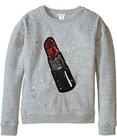 Little Marc Jacobs - Glittered Lipstick Patch Sweatshirt (Big Kids)