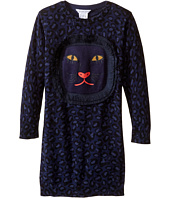 Little Marc Jacobs - Knitted Leopard Frange Style All Over Printed Dress (Toddler/Little Kids)