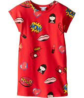 Little Marc Jacobs - Short Sleeve Fancy Illustration Dress (Toddler/Little Kids)