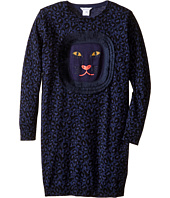Little Marc Jacobs - Knitted Leopard Frange Style All Over Printed Dress (Little Kids/Big Kids)