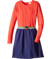 Little Marc Jacobs - Milano Block Colors Dress with Cherry Detail Belt (Big Kids)