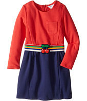 Little Marc Jacobs - Milano Block Colors Dress with Cherry Detail Belt (Toddler/Little Kids)