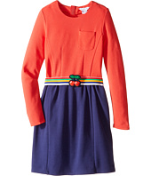Little Marc Jacobs - Milano Block Colors Dress with Cherry Detail Belt (Little Kids/Big Kids)