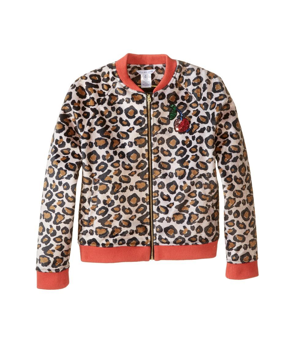 Little Marc Jacobs - Resort - Faux Fur Leopard Jacket with Cherry Patch