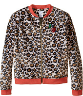 Little Marc Jacobs - Resort - Faux Fur Leopard Jacket with Cherry Patch (Big Kids)