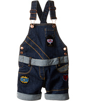 Little Marc Jacobs - Denim Dungaree with Fancy Patches (Toddler/Little Kids)