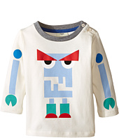 Fendi Kids - Long Sleeve T-Shirt w/ Monster Logo Graphic (Infant)