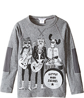 Little Marc Jacobs - Long Sleeve Rock House Illustration Tee Shirt (Toddler/Little Kids)