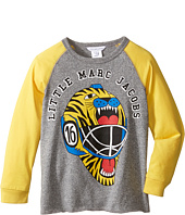 Little Marc Jacobs - Long Sleeve Hockey Illustration Tee Shirt (Toddler/Little Kids)