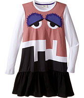 Fendi Kids - Long Sleeve Dress w/ Monster Logo Graphic (Little Kids)